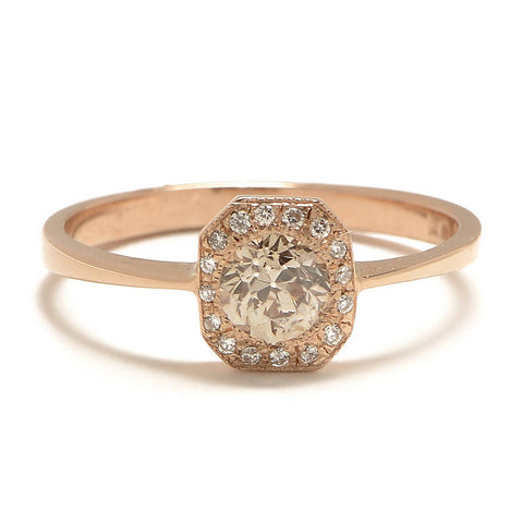 Deco Transitional Diamond Ring - Lori McLean