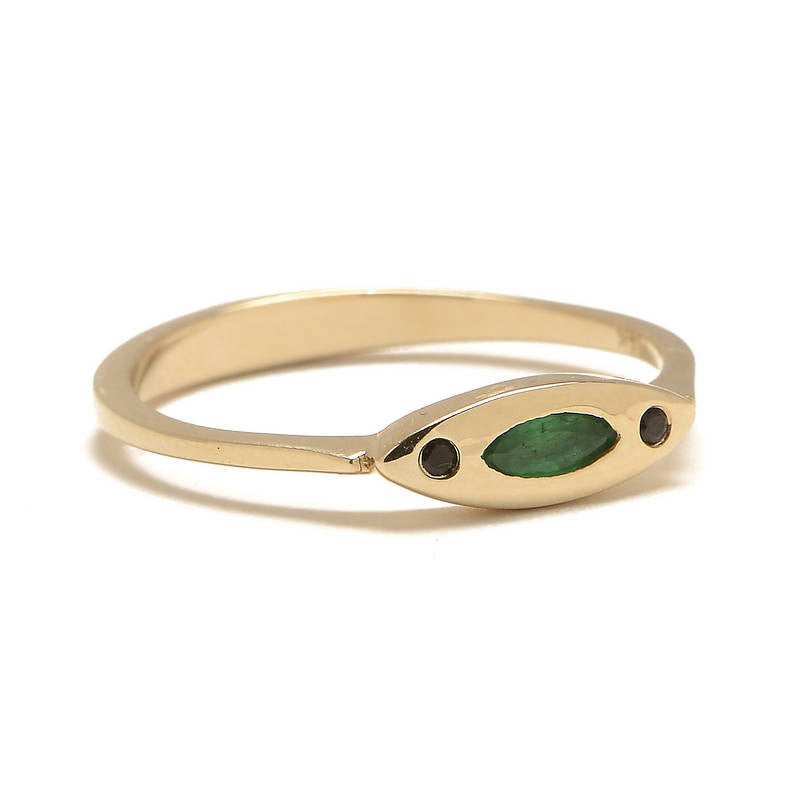 Evil Eye Emerald and Spinel Ring - Lori McLean
