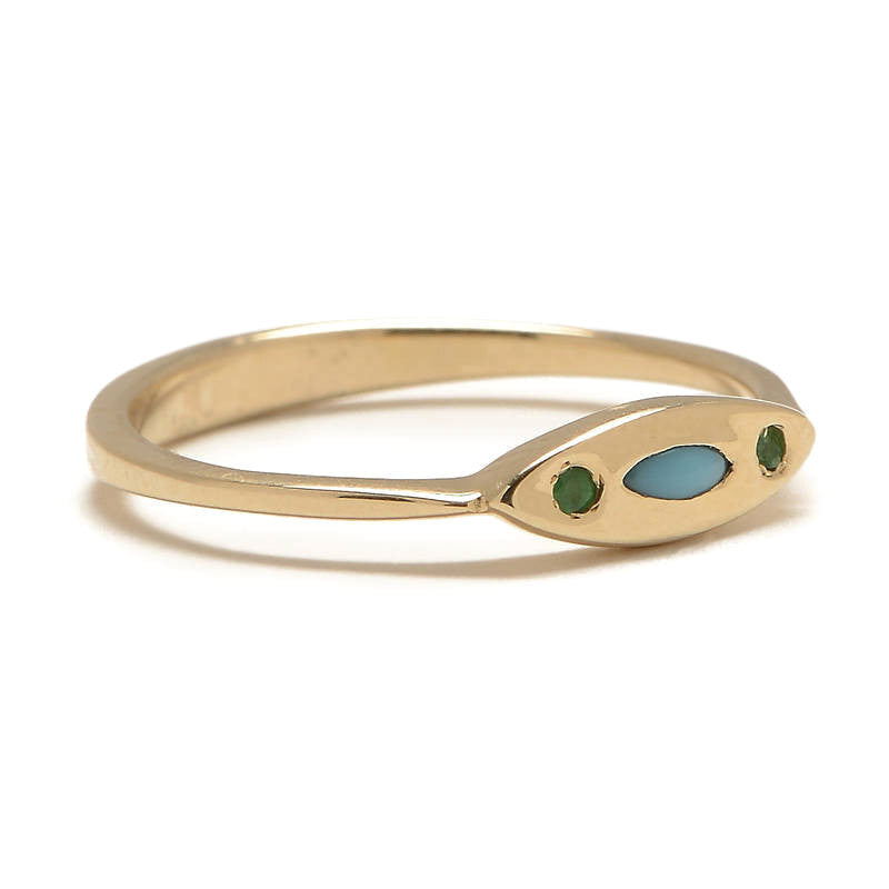 Evil Eye Turquoise Ring - Lori McLean