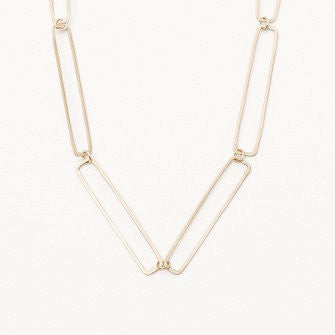 Repeating Rectangle Chain Necklace - Lori McLean