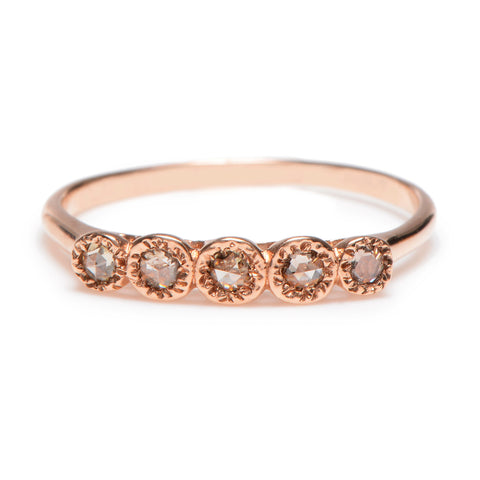 Five Rose Cut Diamond Ring - Lori McLean