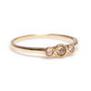 Rose Cut Diamond Trinity Ring - Lori McLean