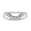 Curved Five Diamond Ring in White - Lori McLean