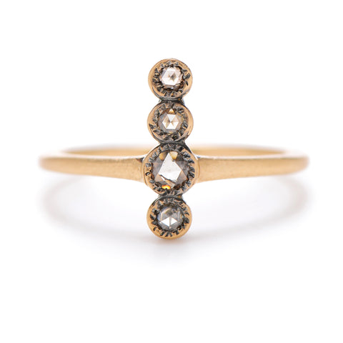 4-Up Rose Cut Diamond Ring - Lori McLean