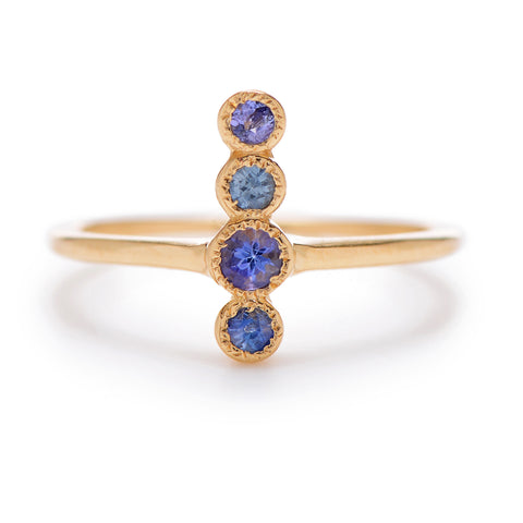 4-Up Blue Sapphire Ring