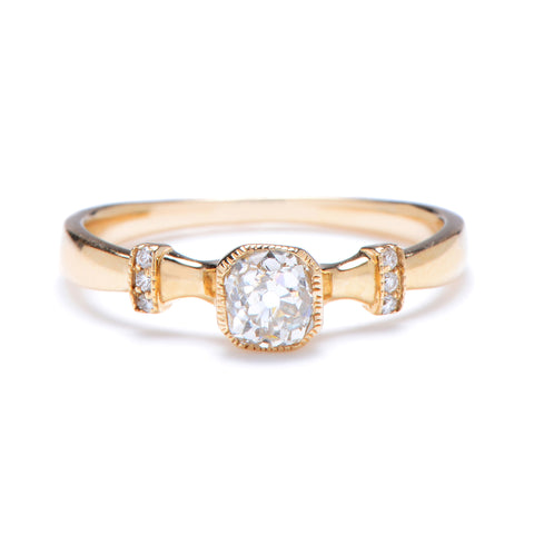 Old Mine Brilliant Diamond Solitaire Ring