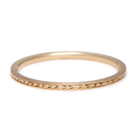 Hand Engraved Thin Band - Lori McLean