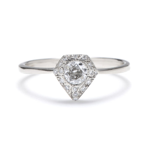 Old European Silhouette Diamond Ring
