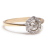 Deco Hexagon Vintage Diamond Setting - Lori McLean