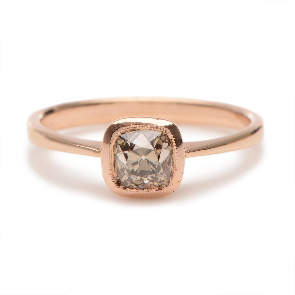 Modernist Ascher Cut Diamond Ring - Lori McLean