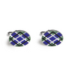 Oval Plaid Inlay Cufflinks - Lori McLean