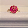 Small Side Saddle Ruby Pavé Ring - Lori McLean