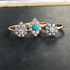Marquise Diamond & Turquoise Cluster Ring - Lori McLean
