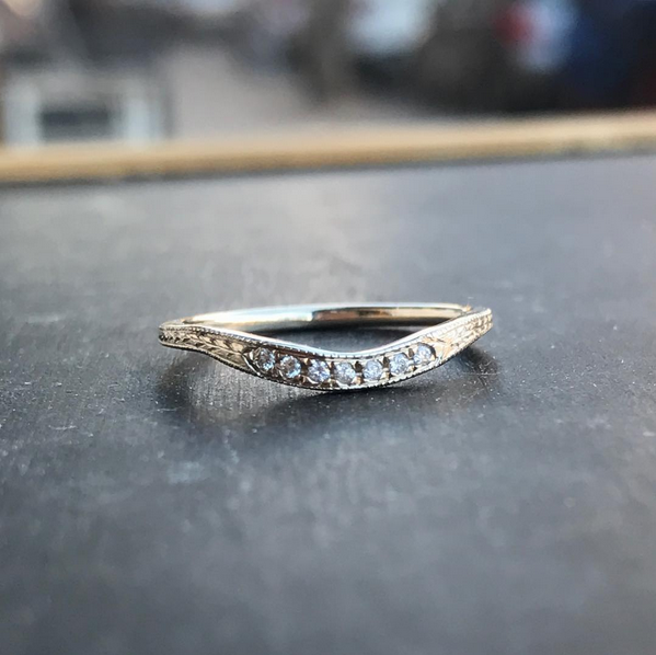 Custom Shadow Wedding Band - Lori McLean