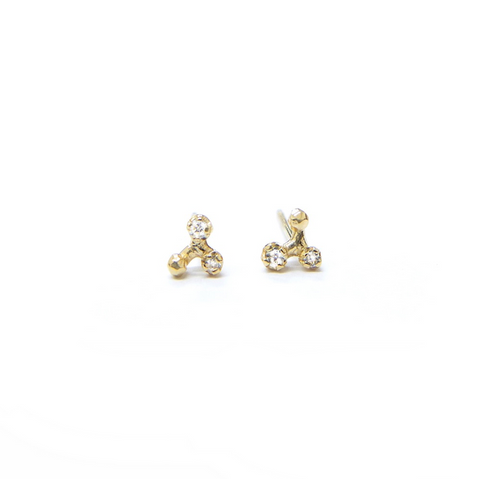 Diamond Tripod Studs