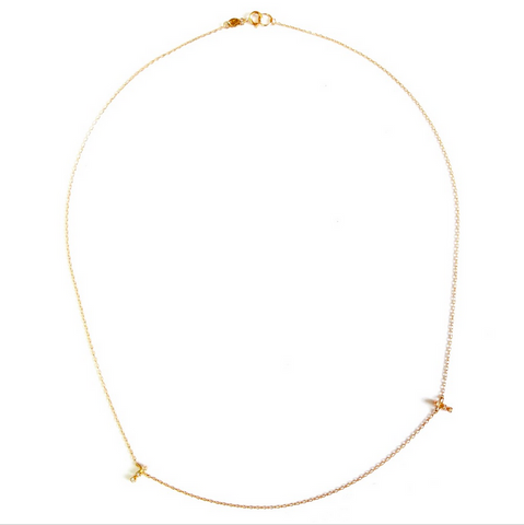 Two Bar Diamond Necklace - Lori McLean