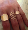 Large Gold Side Saddle RIng - Lori McLean