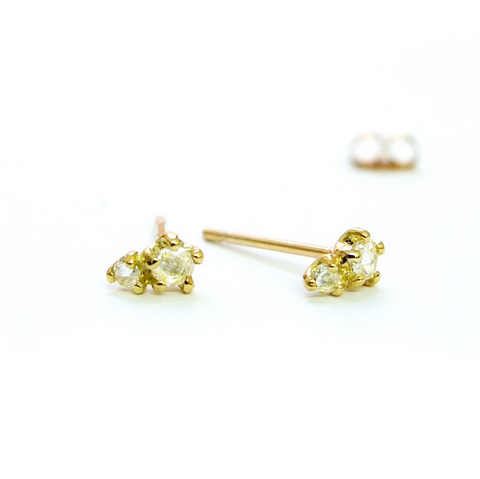Rose Cut Diamond Studs - Lori McLean
