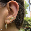 Floral Cluster Studs With Bee Drops