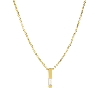Baguette Diamond Necklace - Lori McLean