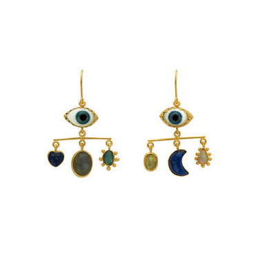 Balance Blue Eyes Drop Earrings - Lori McLean