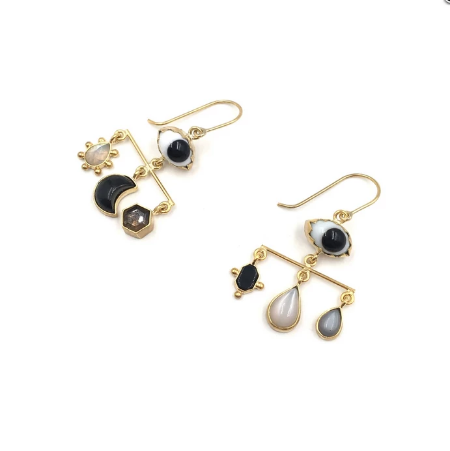 Balance Black Eyes Drop Earrings - Lori McLean