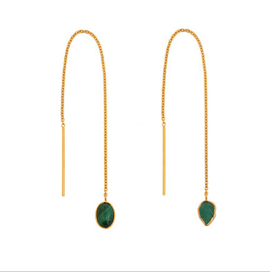 Mismatched Thread Through Earrings - Lori McLean