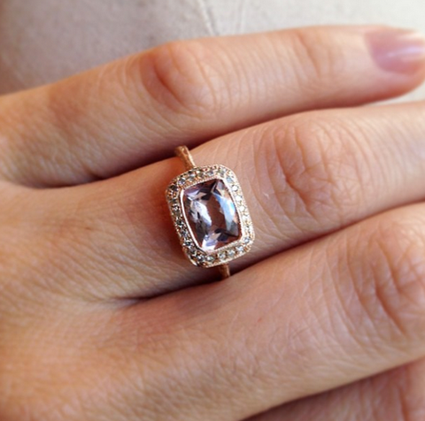 Custom Morganite Setting - Lori McLean