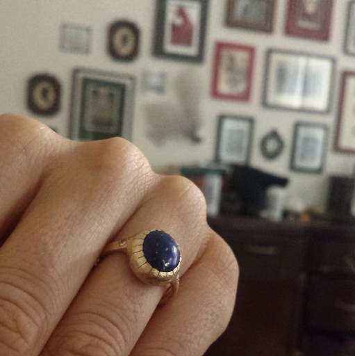 Custom Lapis Ring - Lori McLean