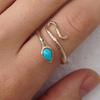 Curling Snake Ring - Lori McLean