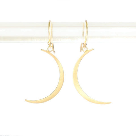 Crescent Moon Drop Earrings - Lori McLean