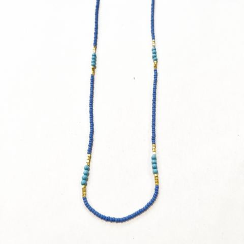 Lavender, Turquoise and Gold Necklace - Lori McLean