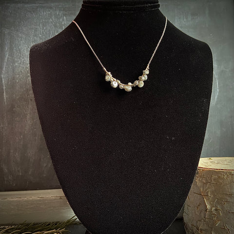 White and Grey Silverite Sterling Necklace - Lori McLean