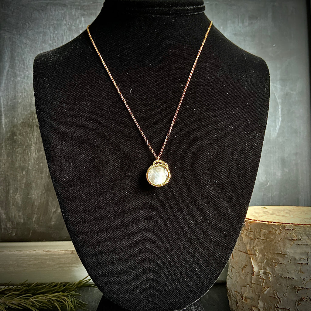 Caged Mother of Pearl Necklace - Lori McLean
