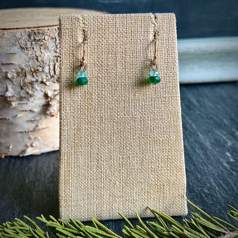 Apatite & Green Quartz Earrings