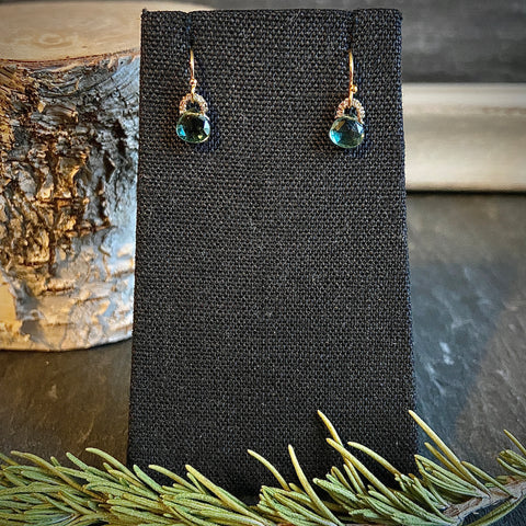 Blue Aqua Teardrop Earrings