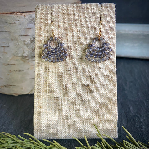 Iolite Woven Fan Earrings