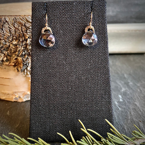 Iolite Mystic Drop Earrings