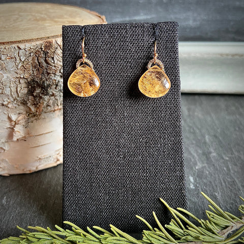 Topaz Cabochon Drop Earrings