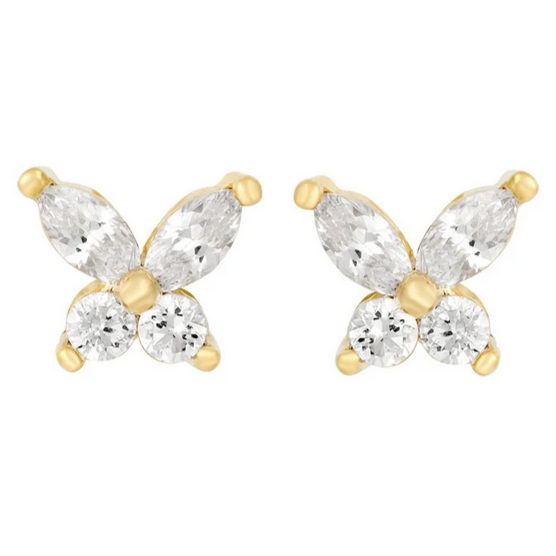 Butterfly Facet Studs