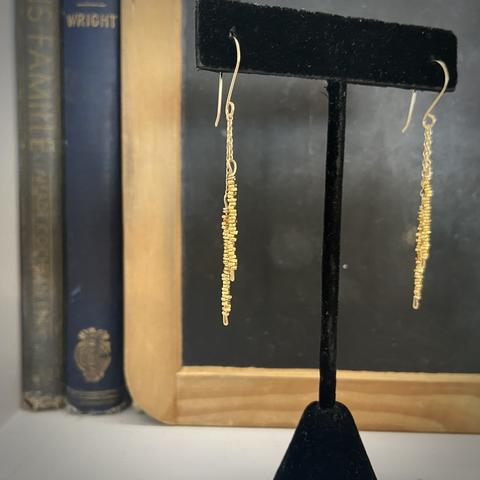 Long Gold Tassle Drops