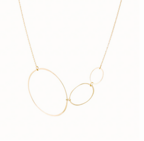 Horizontal Ellipse Necklace - Lori McLean