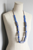 Glass + Painted Wood Necklace