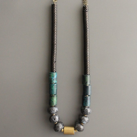 Turquoise + Labradorite Necklace