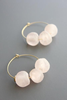 Peach Glass Hoops