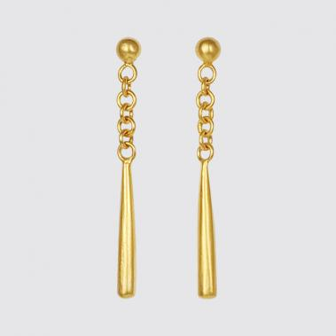 Ball Stud and Swinging Teardrop Earrings - Lori McLean