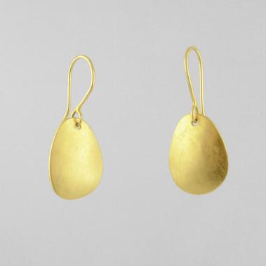 Domed Organic Drop Earrings - Lori McLean