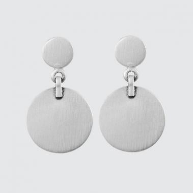 Double Disc Drop Stud Earrings - Lori McLean