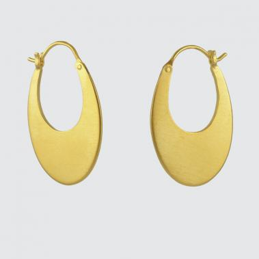 Medium Oval Hoop Earrings - Lori McLean