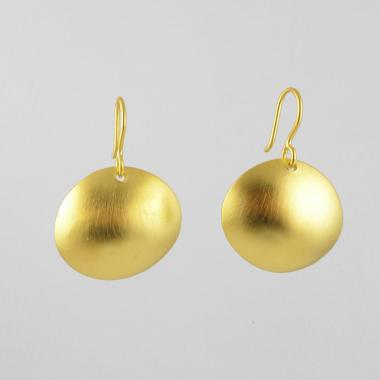 Domed Disc Drop Earrings - Lori McLean
